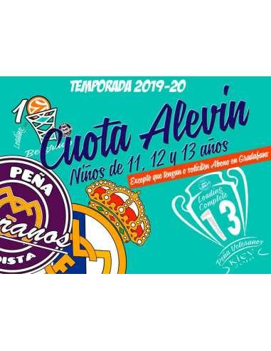 CUOTA ALEVIN (11, 12 Y 13 años) 2019-20