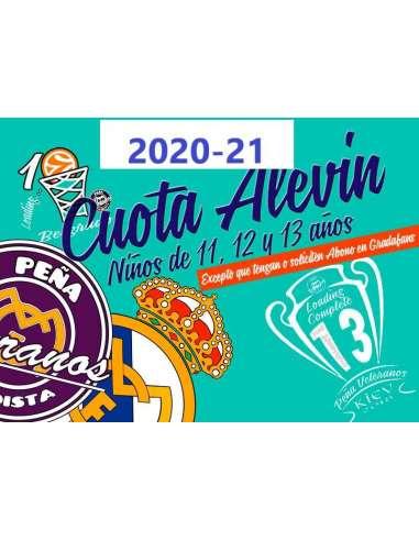 CUOTA ALEVIN (11, 12 Y 13 años) 2020-21