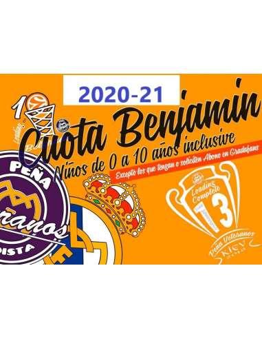 CUOTA BENJAMIN (0 a 10 años) 2020/21
